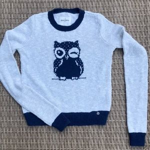 Abercrombie knitted Grey and Blue Sweater